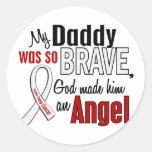 My Daddy Is An Angel Lung Cancer Round Sticker