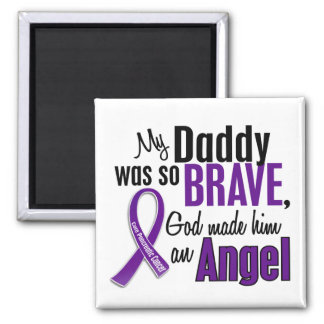 My Daddy Is An Angel Pancreatic Cancer Refrigerator Magnets