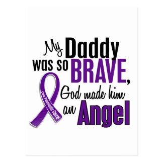 My Daddy Is An Angel Pancreatic Cancer Postcard
