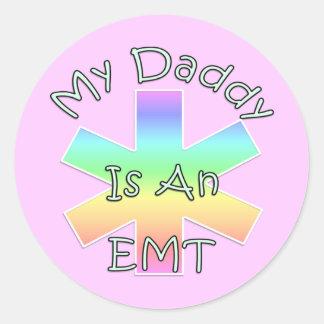 My Daddy Is an EMT Classic Round Sticker