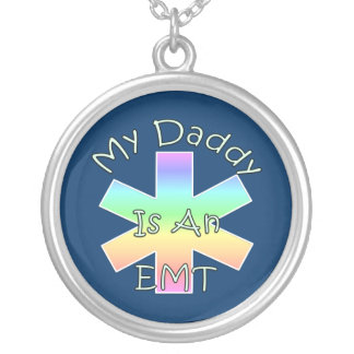 My Daddy Is an EMT Round Pendant Necklace