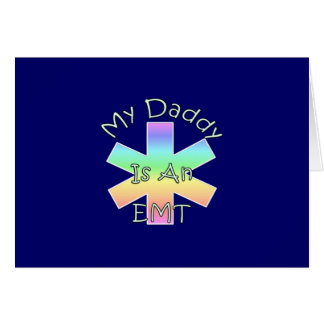 My Daddy Is an EMT Stationery Note Card