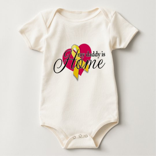 my daddy is home baby bodysuit
