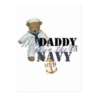 My Daddy is in the Navy Postcard
