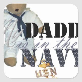 My Daddy is in the Navy Square Sticker
