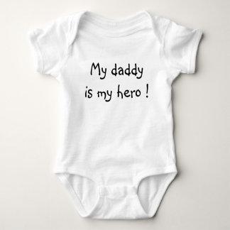 My daddy is my hero ! baby bodysuit