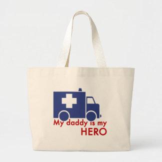My Daddy Is My Hero Jumbo Tote Bag