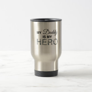 My Daddy is my Hero Digital Camouflage Travel Mug