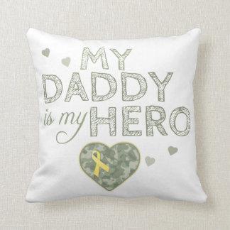 My Daddy is my Hero - Green Camo -  Cushion Pillow