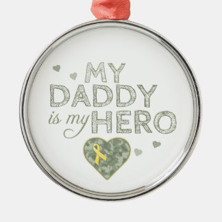My Daddy is my Hero - Green Camo - Ornament