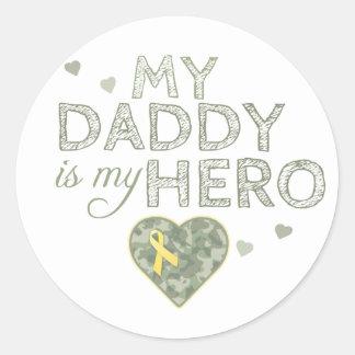 My Daddy is my Hero - Green Camo - Sticker