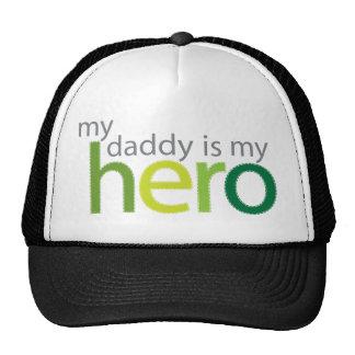 My Daddy is My Hero green Mesh Hats