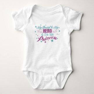 My Daddy Is My Hero & I'm His Princess Baby Bodysuit
