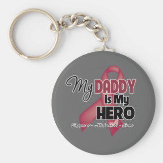 My Daddy is My Hero - Multiple Myeloma Basic Round Button Keychain