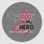My Daddy is My Hero - Multiple Myeloma Classic Round Sticker