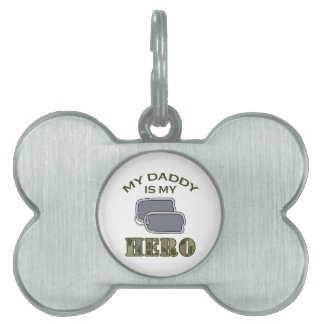 MY DADDY IS MY HERO PET NAME TAGS
