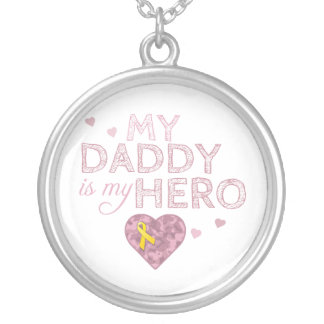 My Daddy is my Hero - Pink Camo - Necklace