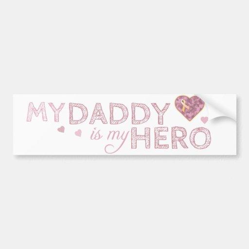 My Daddy is my Hero - Pink USA - Bumper Sticker Car Bumper Sticker