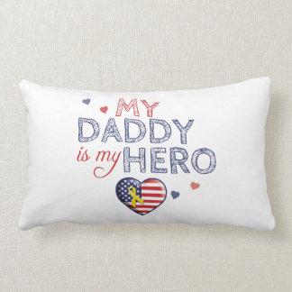 My Daddy is my Hero - USA - Cushion Throw Pillow