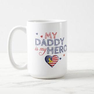 My Daddy is my Hero - USA - Mug