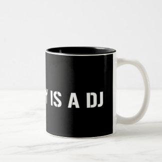 My Daddy Is The DJ Two-Tone Coffee Mug