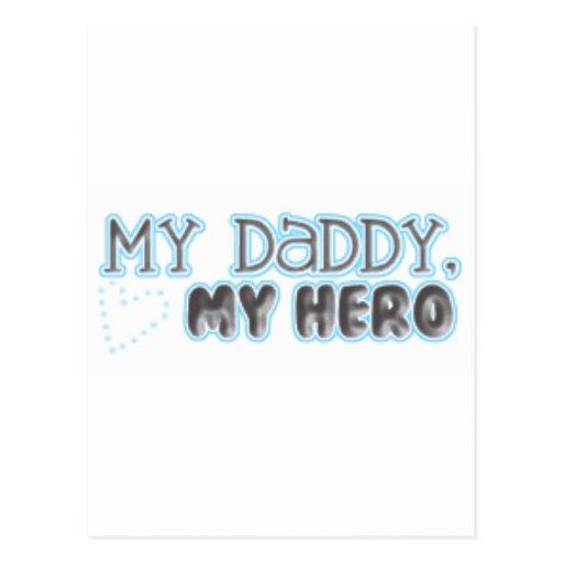 my daddy my hero postcard