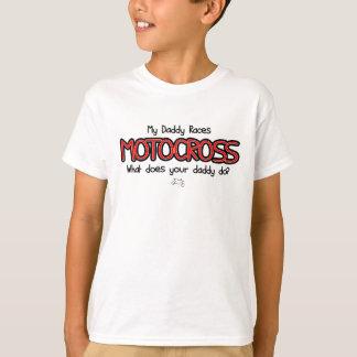My Daddy Races Motocross Tee Shirt