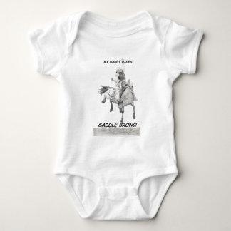 My Daddy Rides Saddle bronc Baby Bodysuit