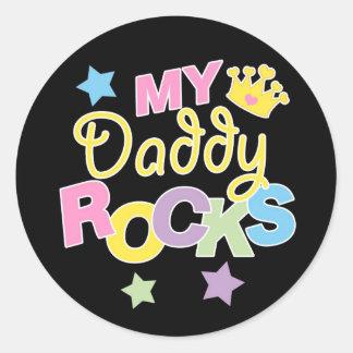 My Daddy Rocks Classic Round Sticker