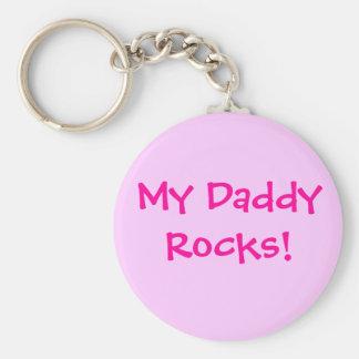 My Daddy Rocks! Basic Round Button Keychain