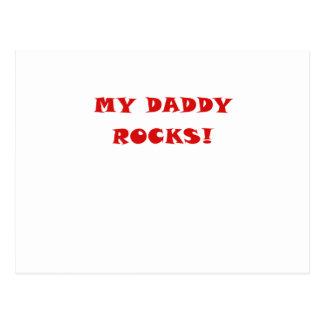 My Daddy Rocks Postcard