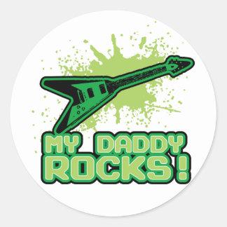 My Daddy Rocks! Round Sticker