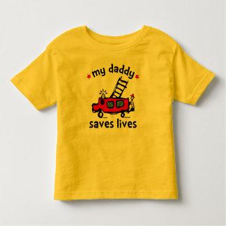 My Daddy Saves Lives - Fireman Toddler T-shirt