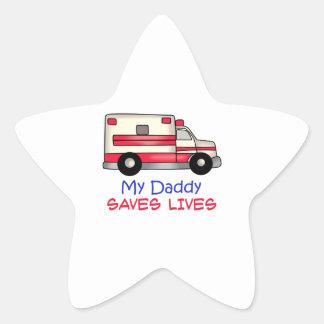 MY DADDY SAVES LIVES STAR STICKER