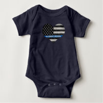 My Daddy's A Hero Thin Blue Line Infant Bodysuit