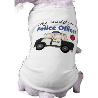 My Daddy's A Police Officer Dog T Shirt