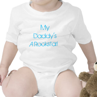 My Daddy's A Rockstar baby one-piece outfit Baby Creeper