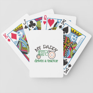 My Daddys Tractor Bicycle Playing Cards