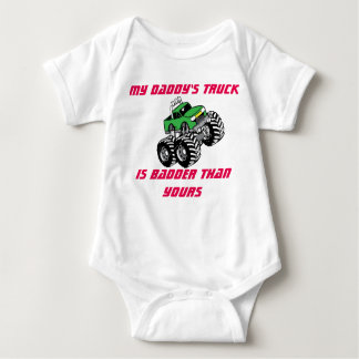 My Daddy's Truck Is Badder Than Yours Onsie Baby Baby Bodysuit