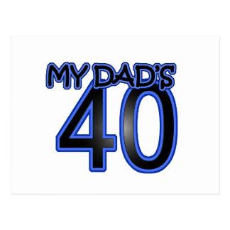 My Dad's 40 Postcard