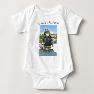 My Dad's A Firefighter - Baby Bodysuit
