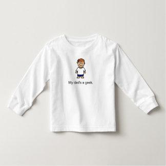 """My dad's a geek."" Toddler T-shirt"
