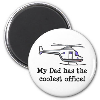 My Dad's Cool Helicopter 2 Inch Round Magnet