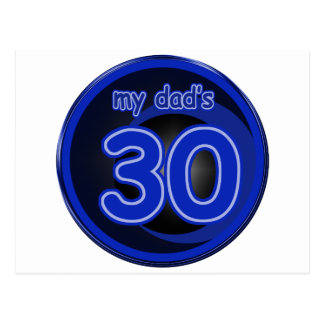 My Dad's is 30 Postcard