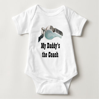 """My Dad's the Coach"" Coach's Whistle Infant Shirt"