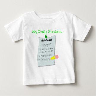 My Daily Routine Baby T-Shirt