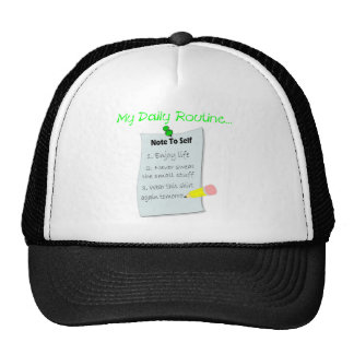 My Daily Routine Hats