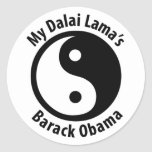 My Dalai Lama's Barack Obama Round Stickers