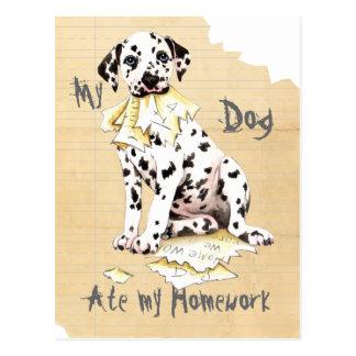 My Dalmatian Ate My Homework Postcard