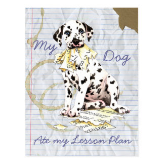 My Dalmatian Ate My Lesson Plan Postcards